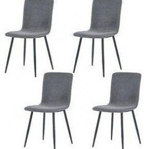 Alec Velvet Upholstered Dining Chair Set Of 4 In 2020 Chair Design Wooden Chair Design Chair
