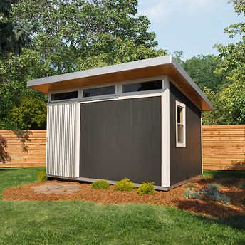 Installed Sheds By Yardline Skyline Wood Storage Shed 10 X 12 In 2020 Storage Shed Wood Storage Sheds Shed