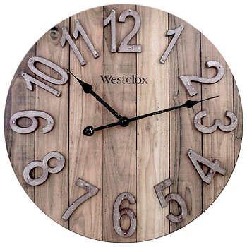 Westclox 15 5 Farmhouse Wall Clock In 2020 Farmhouse Wall Clocks Wall Clock Classic Gear Wall Clock