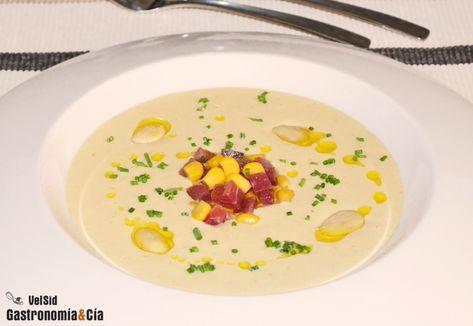 Ajoblanco de maíz dulce con jamón   Gastronomía & Cía