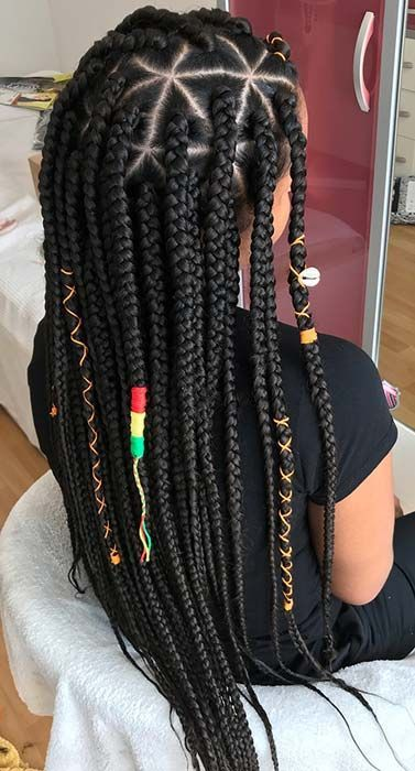 21 Pretty Triangle Braids Hairstyles You Need To See In 2020