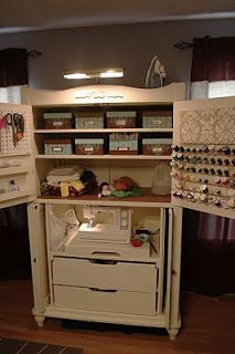 Carla's Crafty Creations: Sewing Armoire: Part 2 (love the doors)