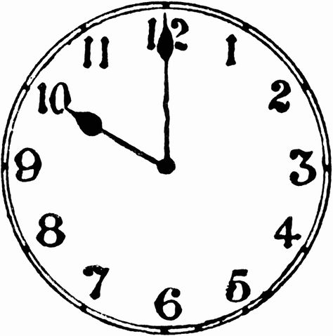 10 O Clock Clock Drawings Clock Clipart Clip Art