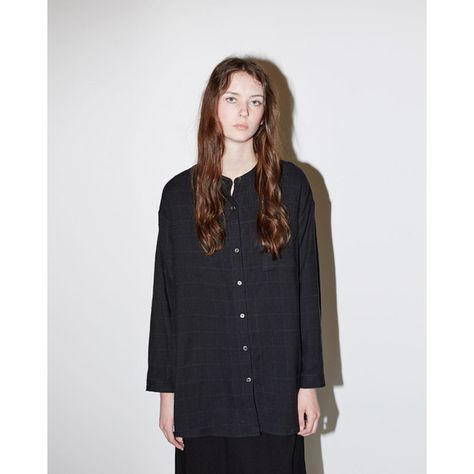 La Garçonne Moderne Windowpane Shirt ($490) liked on