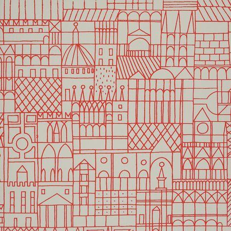 Wallpaper Designed by Alexander Girard for Herman Miller.
