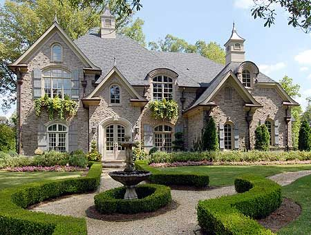 Beautiful dream homes on pinterest mansions traditional for French country house exterior