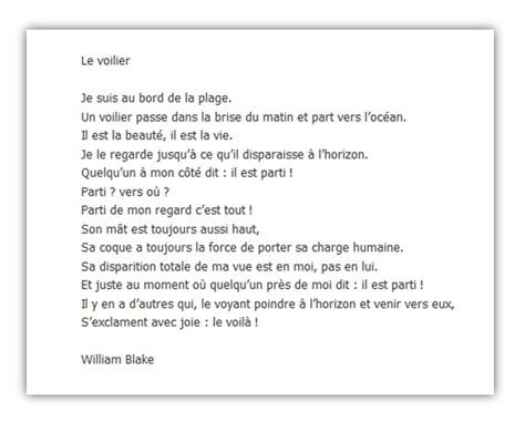 Poeme De William Blake Un Voilier Passe Ecosia William
