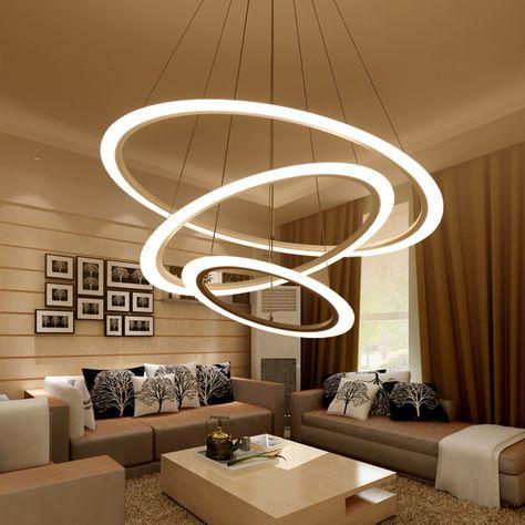 Gunstige Moderne Kronleuchter Led Kreis Verstellbaren Ring