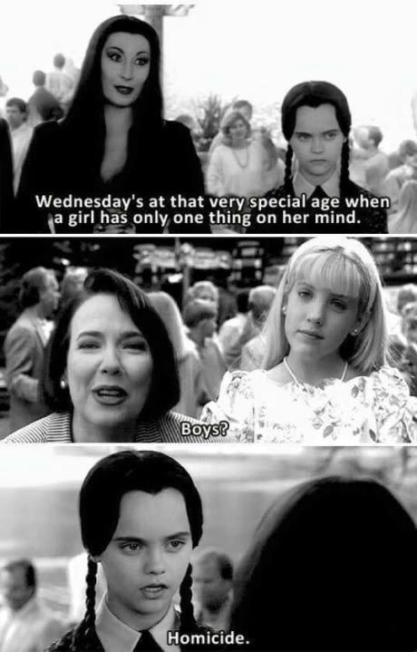 Addams Family values on Addams Family Quotes, Addams Family Values, Stupid Funny, The Funny, Funny Stuff, Funny Things, Scary Stuff, Awesome Stuff, Random Stuff