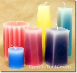 Instructions for creating pillar candles with a faded look  You will