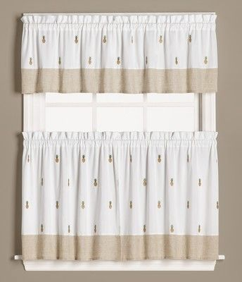 Cheapest Prices On Welcome Pineapples Kitchen Curtain Tiers Valances Get An Extra 10 Off Our Already Discounted Pineapple Kitchen Curtains Kitchen Curtains
