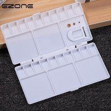 Ezone 25 Grids Palette Empty Watercolor Paints Tins Box With Full