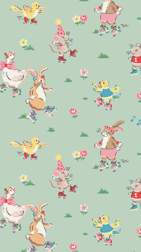 Image about background in BG / Pattern by Naty Rabbit Wallpaper, Bear Wallpaper, Kawaii Wallpaper, Wallpaper Iphone Cute, Pattern Wallpaper, Cath Kidston Wallpaper, Flower Patterns, Print Patterns, Christmas Pattern Background