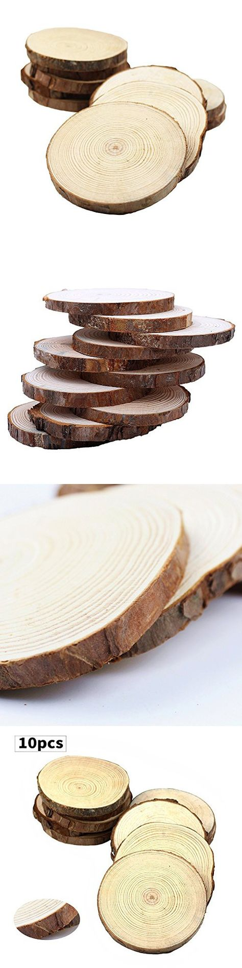 Wooden Pieces 71178: Birch... 50 Count 3 - 4 Wood Slices For ...