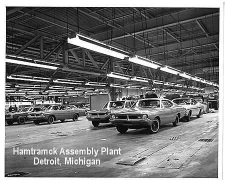Vintage Photo Of The Hamtramck Assembly Plant In Detroit Dodge Muscle Cars Vintage Muscle Cars Mopar Muscle Cars