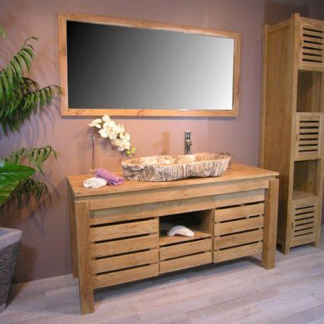 Petit meuble de salle de bain en bois pas cher SDB Pinterest