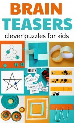 Brain teasers and puzzles for kids enhance math skills. Math Games, Learning Activities, Activities For Kids, Logic Games For Kids, Elderly Activities, Dementia Activities, Physical Activities, Early Finishers Activities, Enrichment Activities