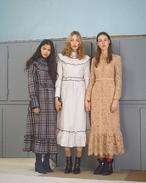 Ganni's Fall/Winter collection is short and sweet, and is lined with gorgeous midi-dresses, knit separates, graphic tees, and matching sets.