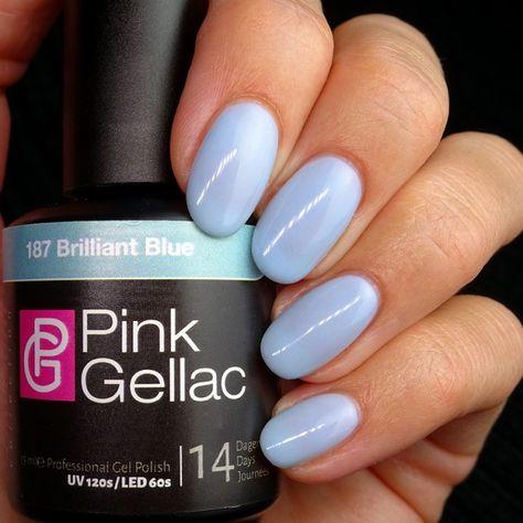 187 Brilliant Blue Gel-Nagellack via pinkgellac.de