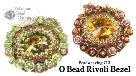 This video tutorial from The Potomac Bead Company teaches you how to bezel around a 14mm crystal rivoli using Miyuki 11/0 delicas, 15/0 seed beads, Czech O b...