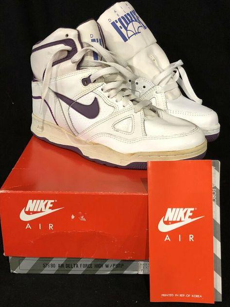 Vintage Nike Women's Air Delta Force Shoes Hi Top White
