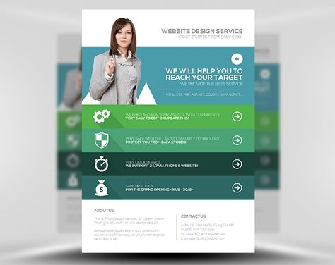 Web Agency Flyer Template By Flyerheroes On Creative Market
