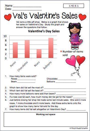 Valentine S Day Mathematics Worksheets Grade 3 Mathematics Worksheets Common Core State Standards Mathematics