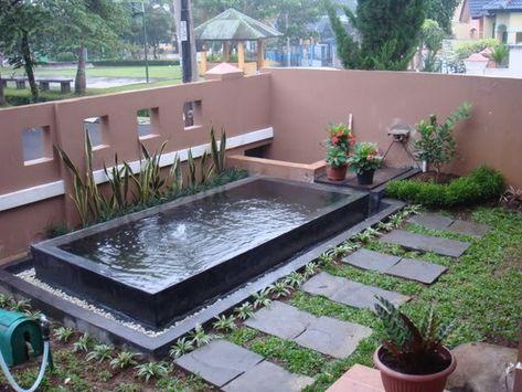 desain kolam ikan minimalis di halaman rumah | home design