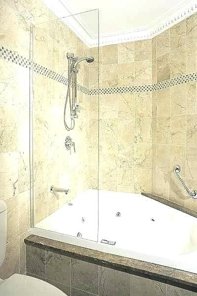Whirlpool Corner Bath With Shower Screen Tub Remodel Corner