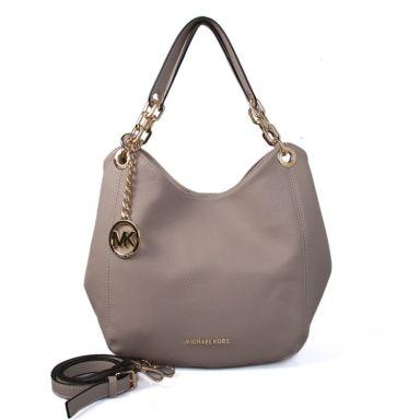 3d4c5d7adfba MICHAEL KORS Fulton Large Leather Shoulder Bag Grey