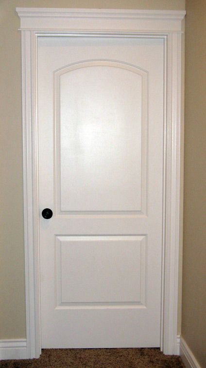 & DIY Door Trim for Plain Doors | Door trims Doors and House