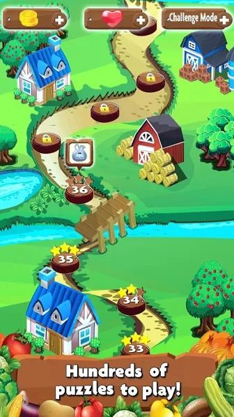 Farm Day is an adventure puzzle game of match 3 to make best