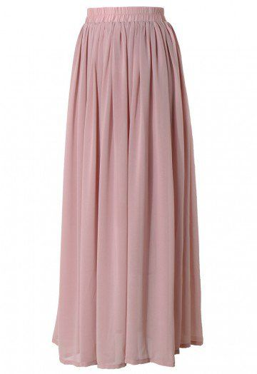 This maxi skirt has been crafted from chiffon fabric. Featuring flexible waistband, full length underskirt and accordion pleats through the main. The maxi skirt has been cut with a regular fit. -100% Polyester,lined Size(cm) Length Waist S/M     100   62-76 L/XL      105  74-82 Size(cm) Length Waist S/M      39   24-30 L/XL     41.5   29-32  * S/M fits for US2-6, UK6-10, EU34-38 * L/XL fits for US6-10, UK8-12, EU36-40  for customiz...