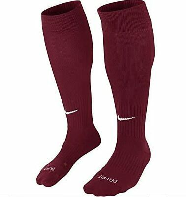 Nike Classic Ii Cushioned Soccer Socks Team Red White Size M In 2020 Nike Classic Soccer Socks Socks