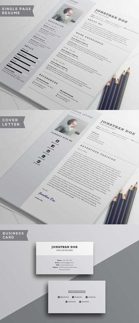 20 Beautiful \ Free Resume Templates for Designers Free resume - single page resume