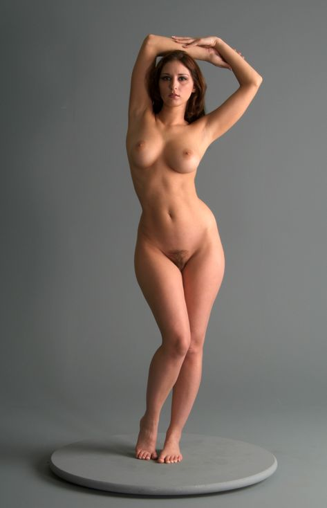Adorable Girl Brunette Body Nude Figure Pose Photos 1