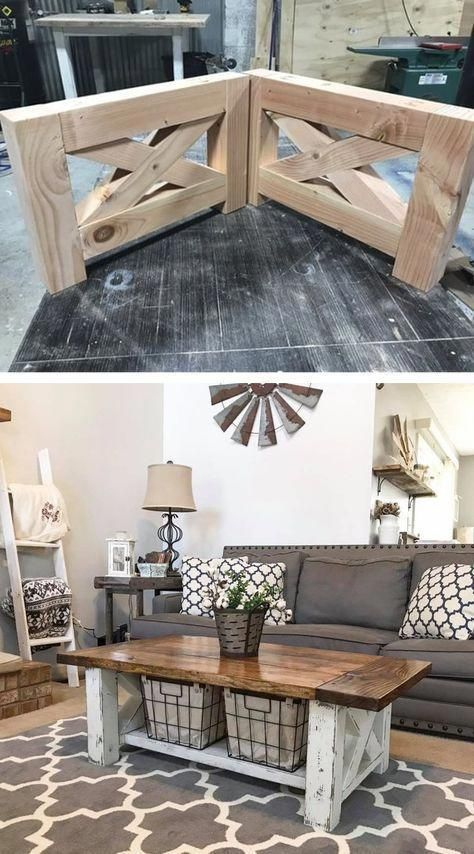 Diy Farmhouse Coffee Table For The Home Living Room Coffeetable Farmhouse Kit Diy Farmhouse Coffee Table Coffee Table Farmhouse Decor