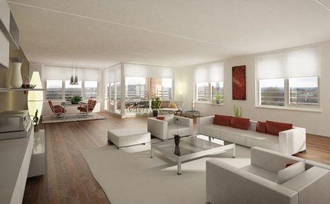 mijn woonkamer wil ik modern inrichten veel meubels er strak