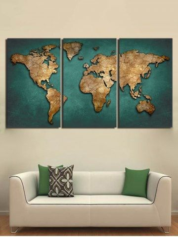 Canvas Wall Art Cheap Best Discount Canvas Wall Art For Sale Online Free Shipping Rosegal Com Map Canvas Painting 3 Piece Canvas Art Map Canvas Art