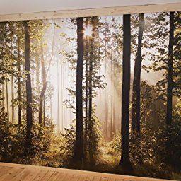 Fototapete Wald Bäume 352 X 250 Cm Vlies Wand Tapete Wohnzimmer  Schlafzimmer Büro Flur Dekoration Wandbilder XXL Moderne Wanddeko   100%  MADE IN GERMANY ...