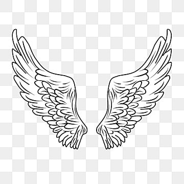 Hand Drawn Line Black Cartoon Wings Wing Clipart Simple Wings Line Wings Png Transparent Clipart Image And Psd File For Free Download Cartoon Wings Wings Png Wings Drawing