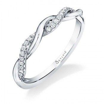 Sylvie Twisted Wedding Band Braided Diamond Wedding Band Braided Engagement Rings Spiral Engagement Ring