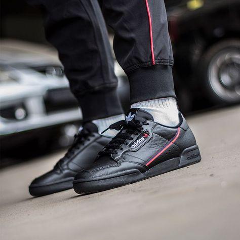 Adidas Continental 80 Black / Scarlet | Chaussure