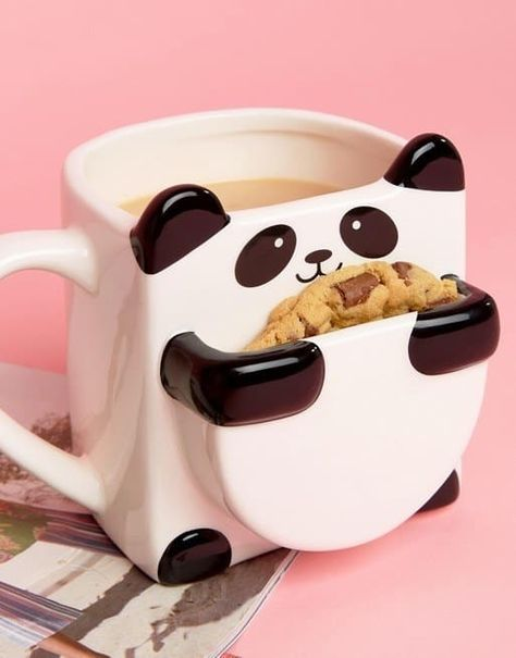 cute cups 26 Absolutely Perfect Thank You Gifts For Every Situation Make cookie pouch bigger and get rid of mug, make I little pot with panda head in back and arms/feet around