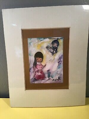 Framed Ted Degrazia Print Painting Sandstone Creations Girl With