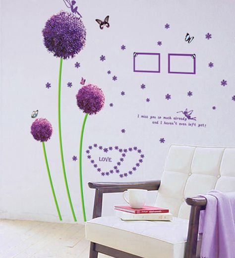 buy cortina purple shade pvc vinyl romantic theme wall sticker