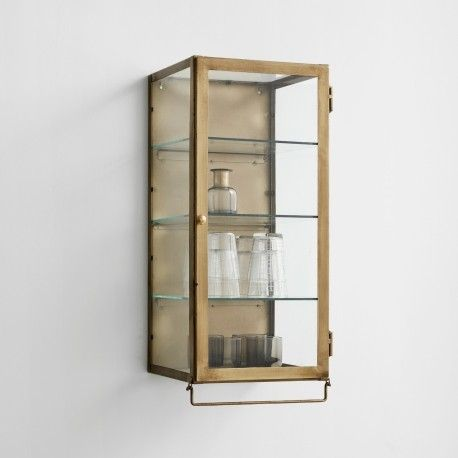 Nordal Gold Or Black Wall Hanging Display Cabinets Acc For The