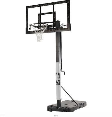Advertisement Ebay Spalding Nba 60 Acrylic Screw Jack Portable Basketball Hoop System In 2020 Portable Basketball Hoop Basketball Hoop Basketball