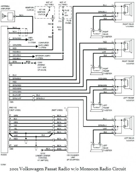Passat B5 5 Wiring Diagram Electrical Diagram Vw Passat Vw Jetta