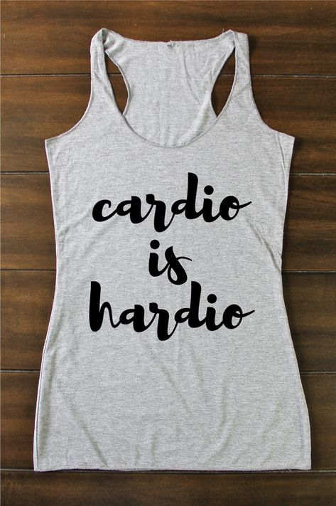 Cardio Is Hardio  Fitted Tank  Funny Tank  Funny by RuggedAndFit